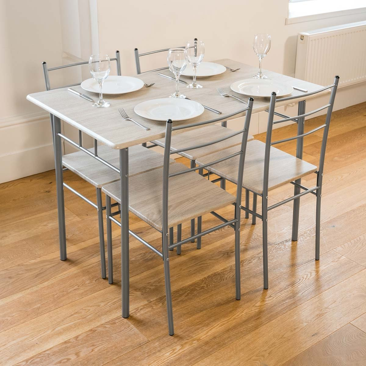 b150ecacb4a65 Cecilia 5 Piece Dinner Table and Chairs Set Quality Modern Dining   Amazon.co.uk  Kitchen   Home