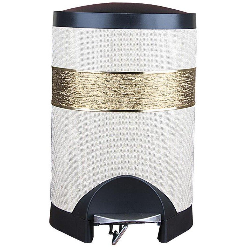 LINGZHIGAN ベージュをゴミ箱に入れるリビングルームペダルクリエイティブトイレ便器ゴミ箱ゴミ箱ゴミ箱ゴミ箱ゴミ箱に入れる革材 (サイズ さいず : 10L) B07L1NJCKG  10L