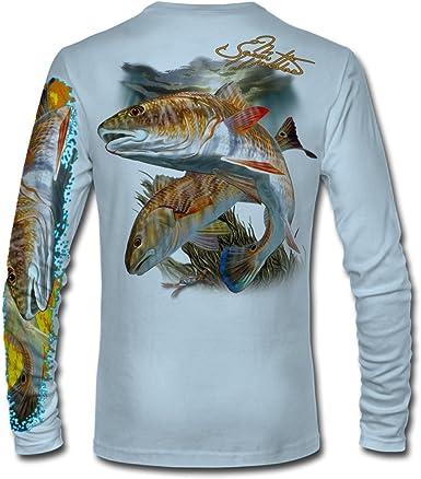 Pick Size-Free Ship Guy Harvey Pro UVX Redfish Performance Fishing Shirt
