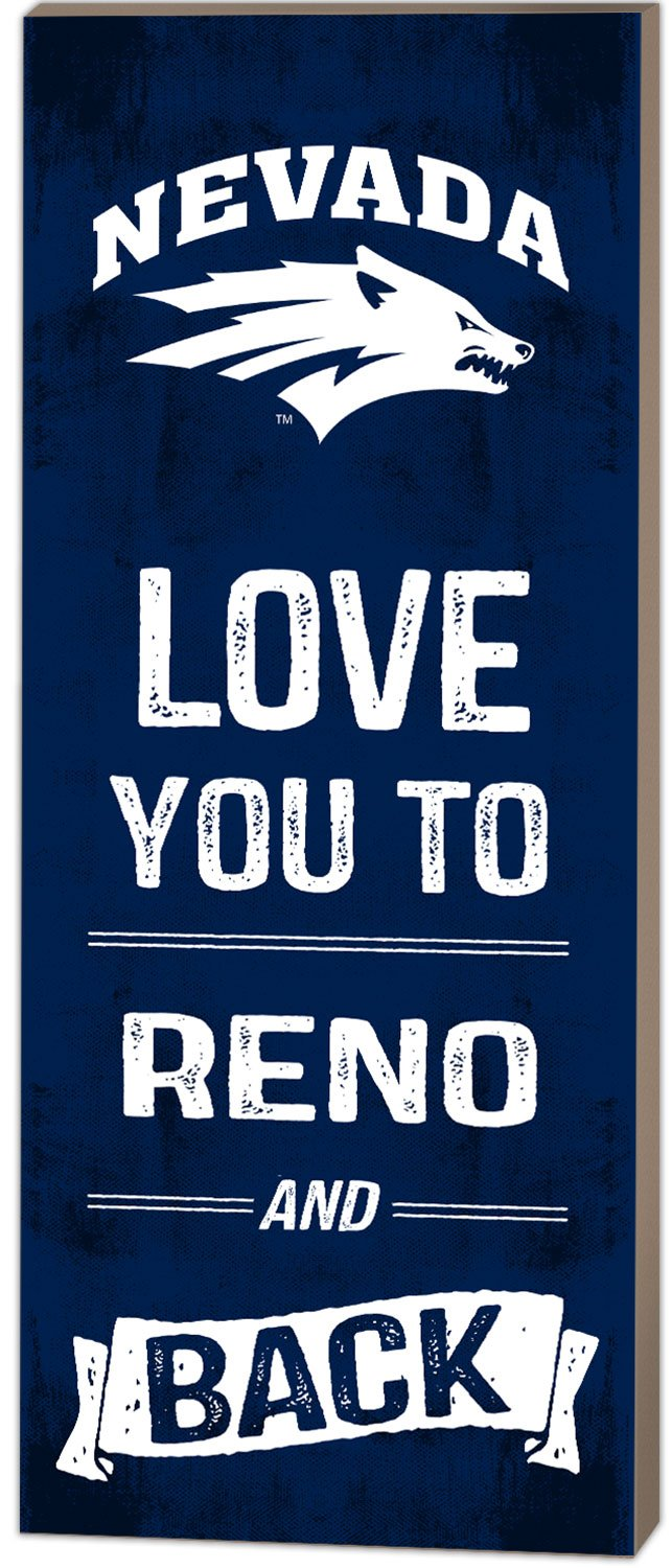 KH Sports Fan 7''X18'' Nevada Wolf Pack Love You To College Logo Plaque