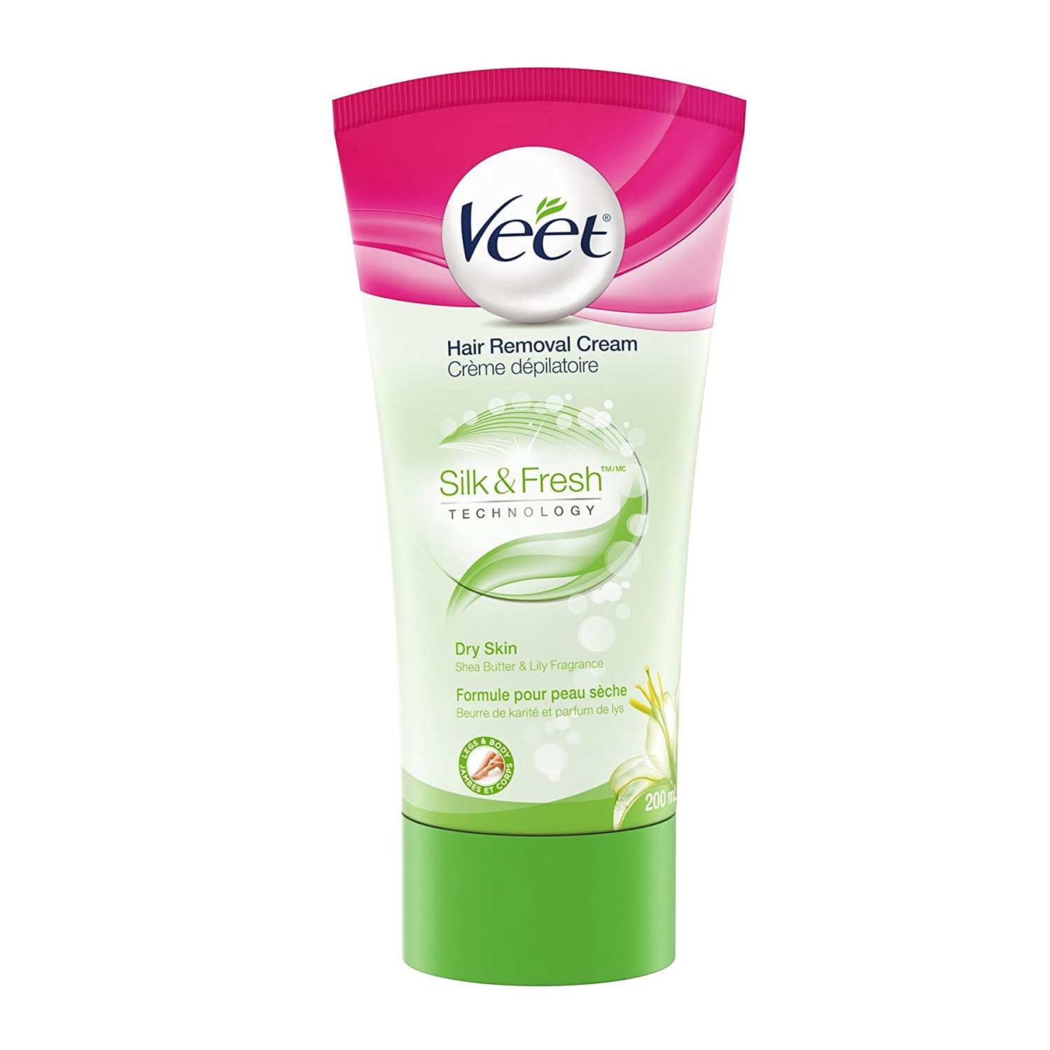 Veet Natural Inspirations, Hair Removal Gel/Cream, Legs & Body, Normal & Dry Skin, 200 ml