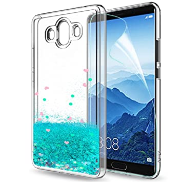 LeYi Funda Huawei Mate 10 Silicona Purpurina Carcasa con HD Protectores de Pantalla, Transparente Cristal Bumper Telefono Gel TPU Fundas Case Cover ...
