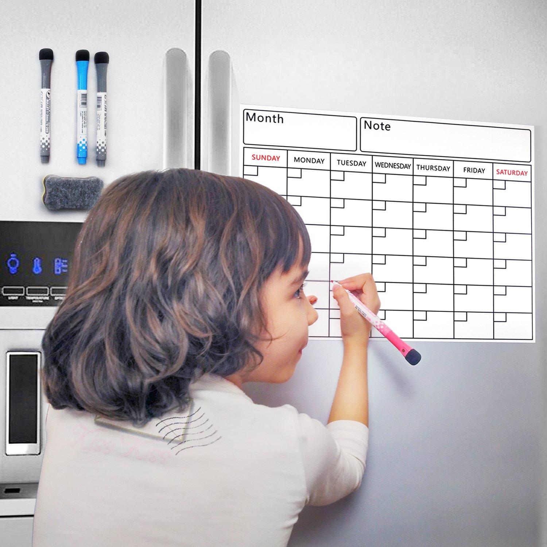 Pizarra magnética con organizador semanal y planificador mensual ...