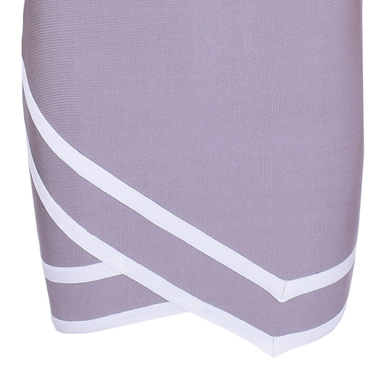 HLBandage 2 Piece Set Lace Half Sleeve Rayon Bandage Dress