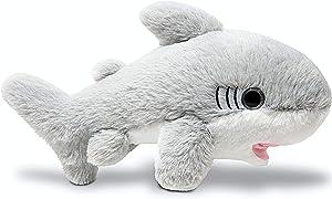 Fluffuns Stuffed Shark Plush Animal - Baby Shark Stuffed Animal Plush Toys - 12 Inch Length (Gray)