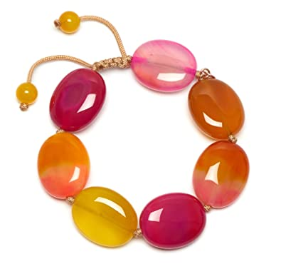 Lola Rose Women Multicolour Coral Shell Strand Bracelet of Length 18cm 696098 nSdhy30hY