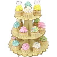 MengH-SHOP Soporte para Cupcakes 3-Tier Cartón Cupcake Stand