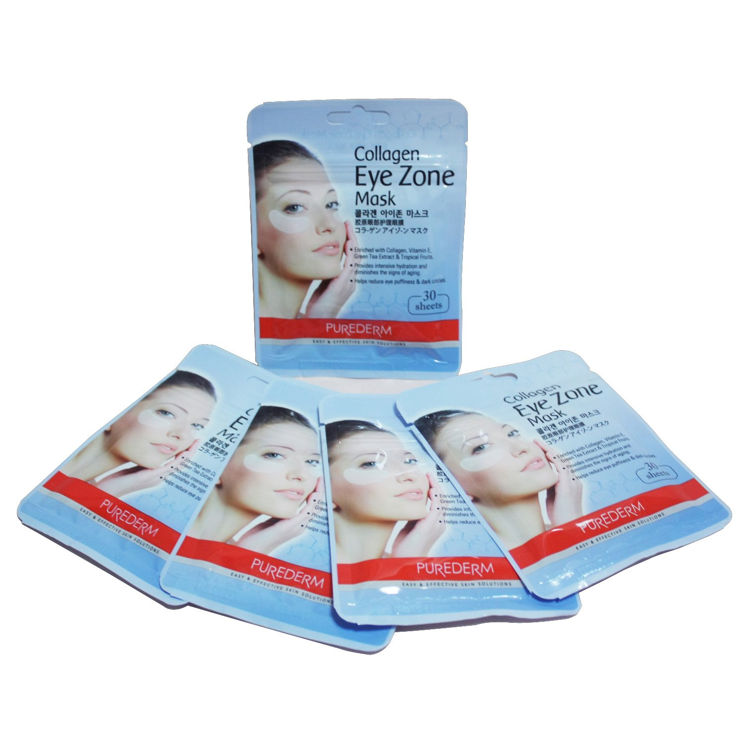 Purederm Collagen Eye Zone Mask Pad Patches - Wrinkle Care, Dark Circles Whitening (5 Pack (150 Sheet)) by Purederm C&Tech