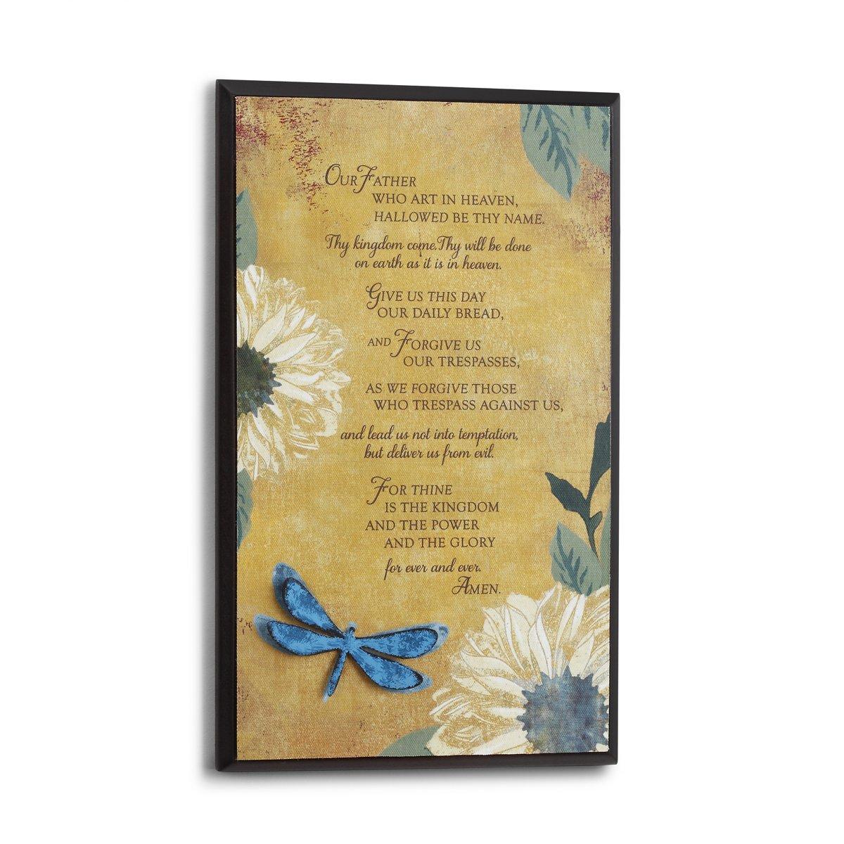 Amazon.com: DEMDACO The Lord\'s Prayer Wood Plaque: Home & Kitchen