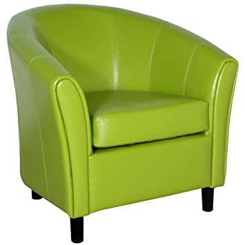 Amazon.com: Best Selling Napoli Lime Green Leather Chair: Kitchen U0026 Dining