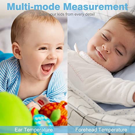 Zimmer//Objekt Baby Thermometer ROHS//FDA Fieberthermometer f/ür Ohr Erwachsene Fieberthermometer baby Ohrthermometer kinder Stirnthermometer Digital Infrarot 1S Messzeit//Speicherfunktion//Fieberalarm