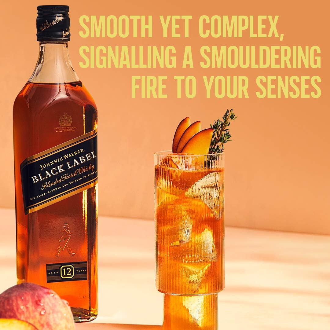 Johnnie Walker Negro Whisky Escocés, 700ml
