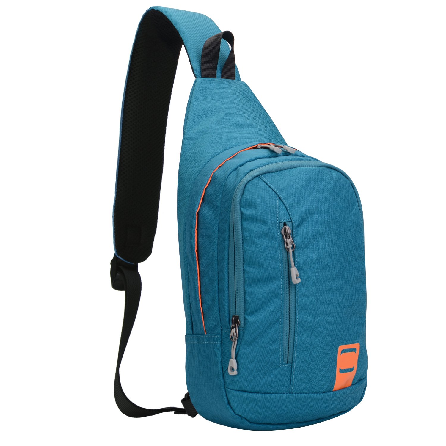 Lecxci Outdoor Chest Sling Shoulder Bag, [Ultra-Lightweight Waterproof Nylon] [Hiking Cycling Camping Travel] Sling Shoulder Chest Daypack Backpack Bag for Man/Women / College Teen Girls(Blue1)