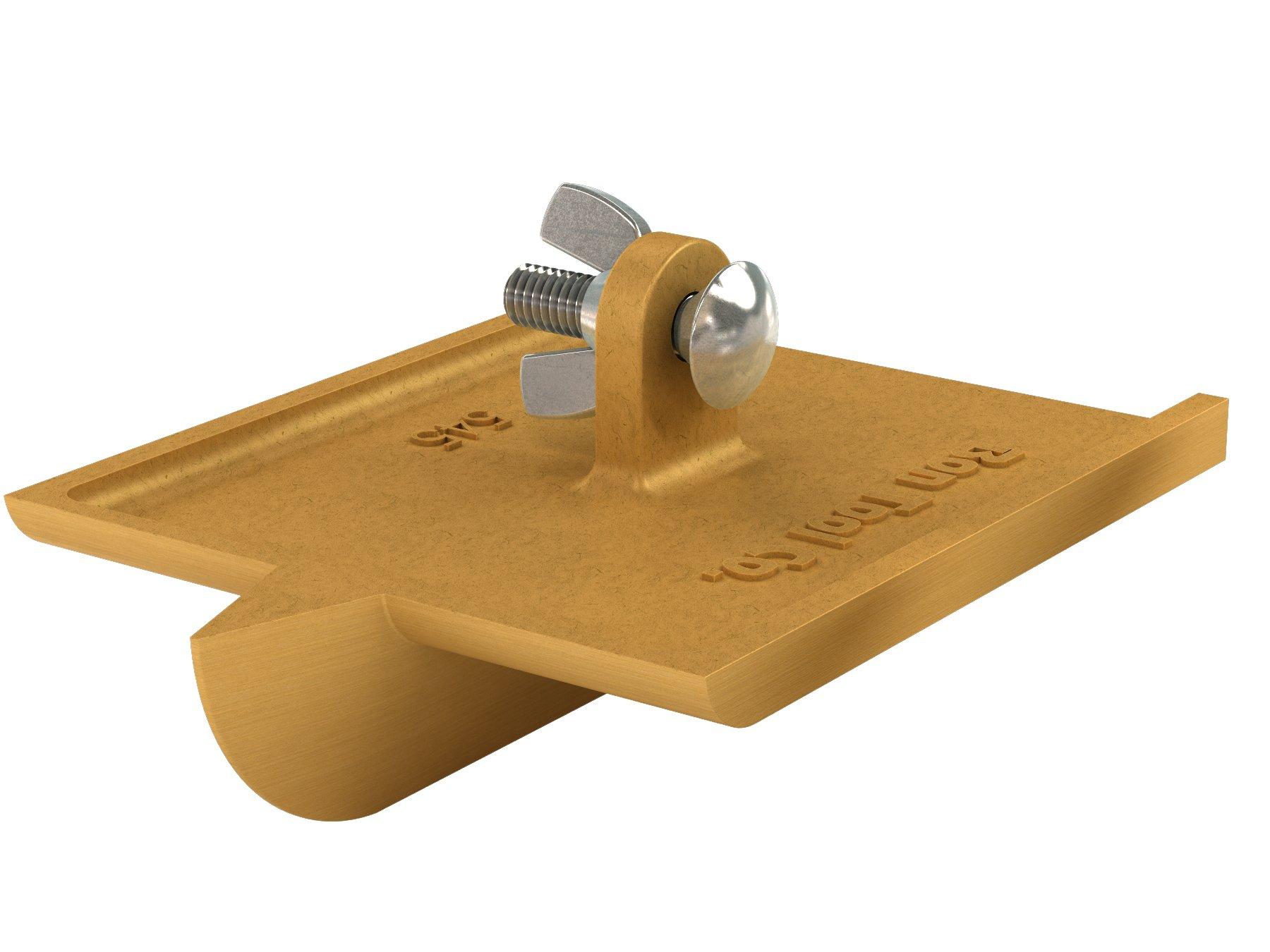Bon 12-545 6-Inch by 4-1/2-Inch Bronze Walking Concrete Groover, 1-Inch Bit Depth, 1/2-Inch Bit Width