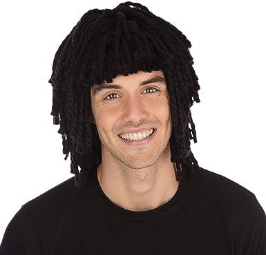 Adult/'s Black Rasta Dreadlocks Wig