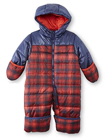 9d93fafa5 Amazon.com  Carter s Infant Boys Red Plaid Quilted Snowsuit Baby ...