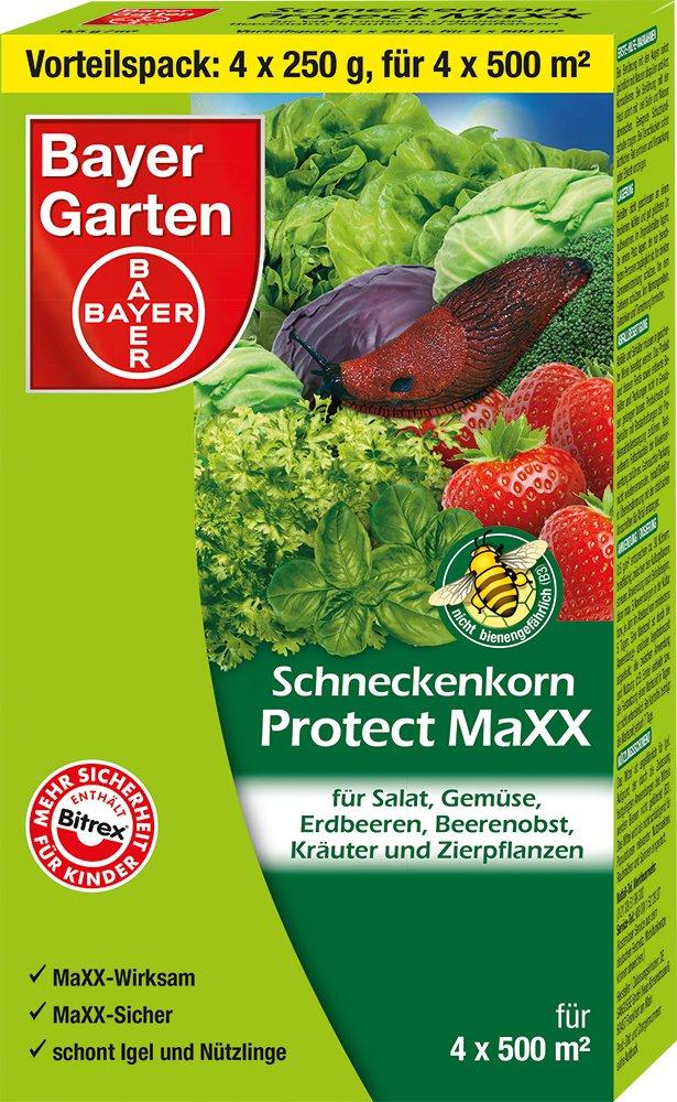 Bayer Garten Protect MaXX Schneckenkorn, Blau, 4 x 250 g SBM Life Science GmbH 84482064