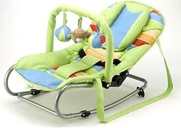 Babywippe babyschaukel wippe grün mit spielbügel und kopfpolster