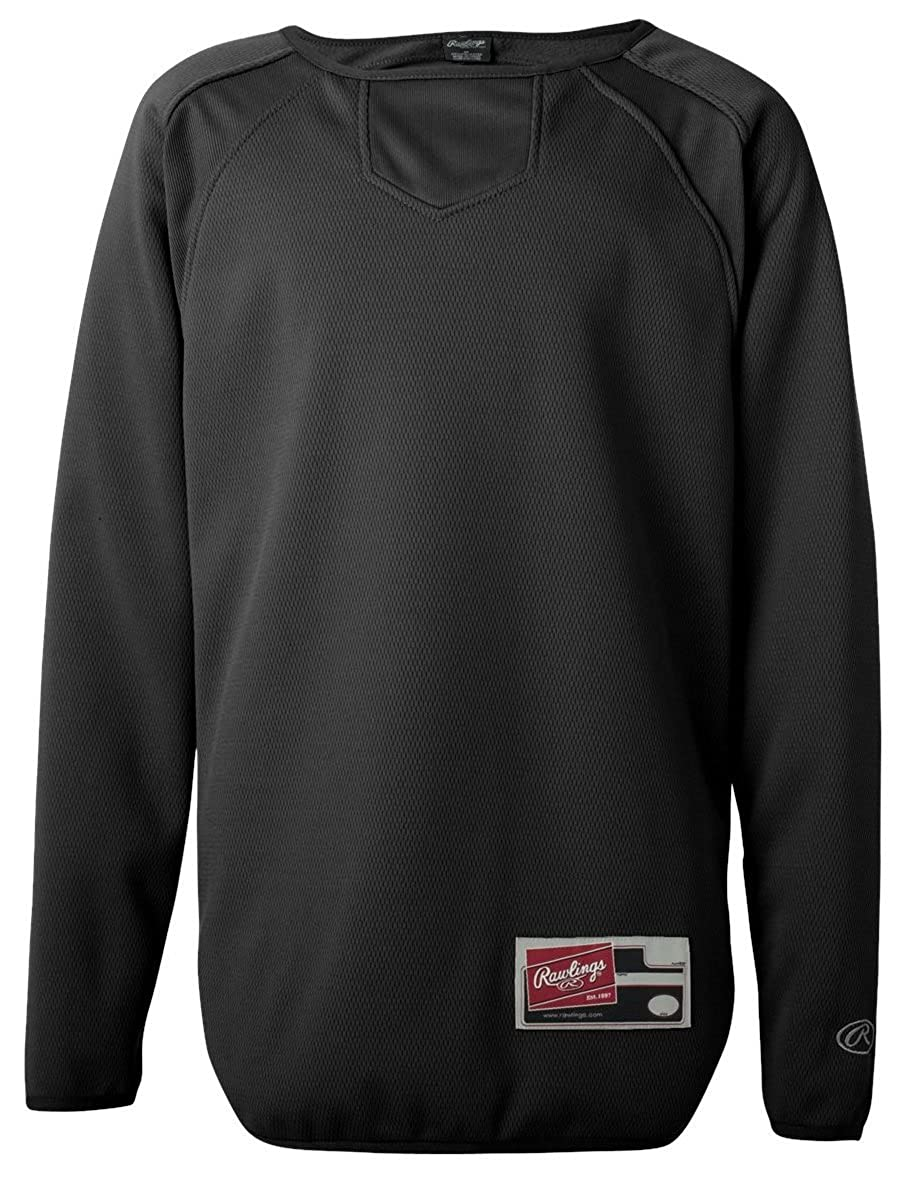 Rawlings Long Sleeve Flatback Mesh Fleece Pullover 6705