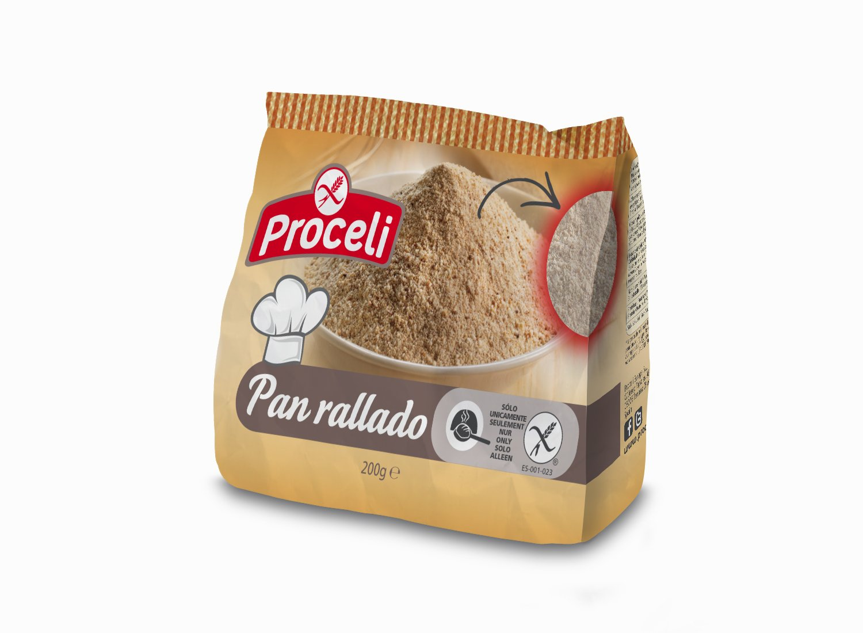 Proceli Pan Rallado Sin Gluten - 200 gr - [Pack de 8 ...