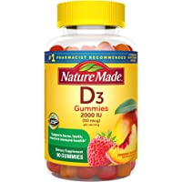 Nature Made Vitamin D3 2000 IU (50 mcg) Gummies, 90 Count for Bone Health† (Packaging May Vary)