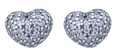 4fb32b8ee Image Unavailable. Image not available for. Color: PANDORA 290541CZ In My  Heart Stud Sterling Silver Earrings