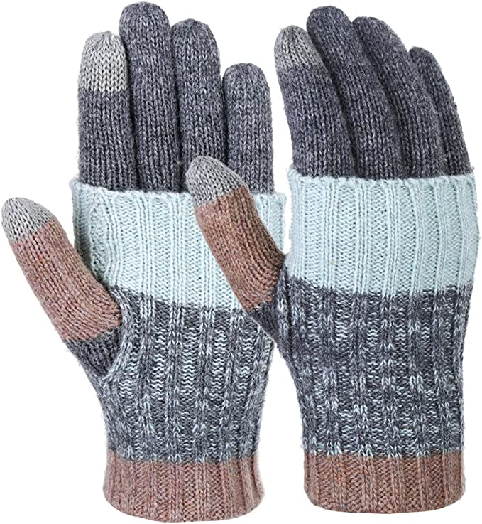 Warme Strick Handschuhe f/ür Damen und Herren Homealexa Winter Handschuhe Damen Fingerlose Handschuhe Baumwolle Halb Fingerhandschuhe mit Flip-Top