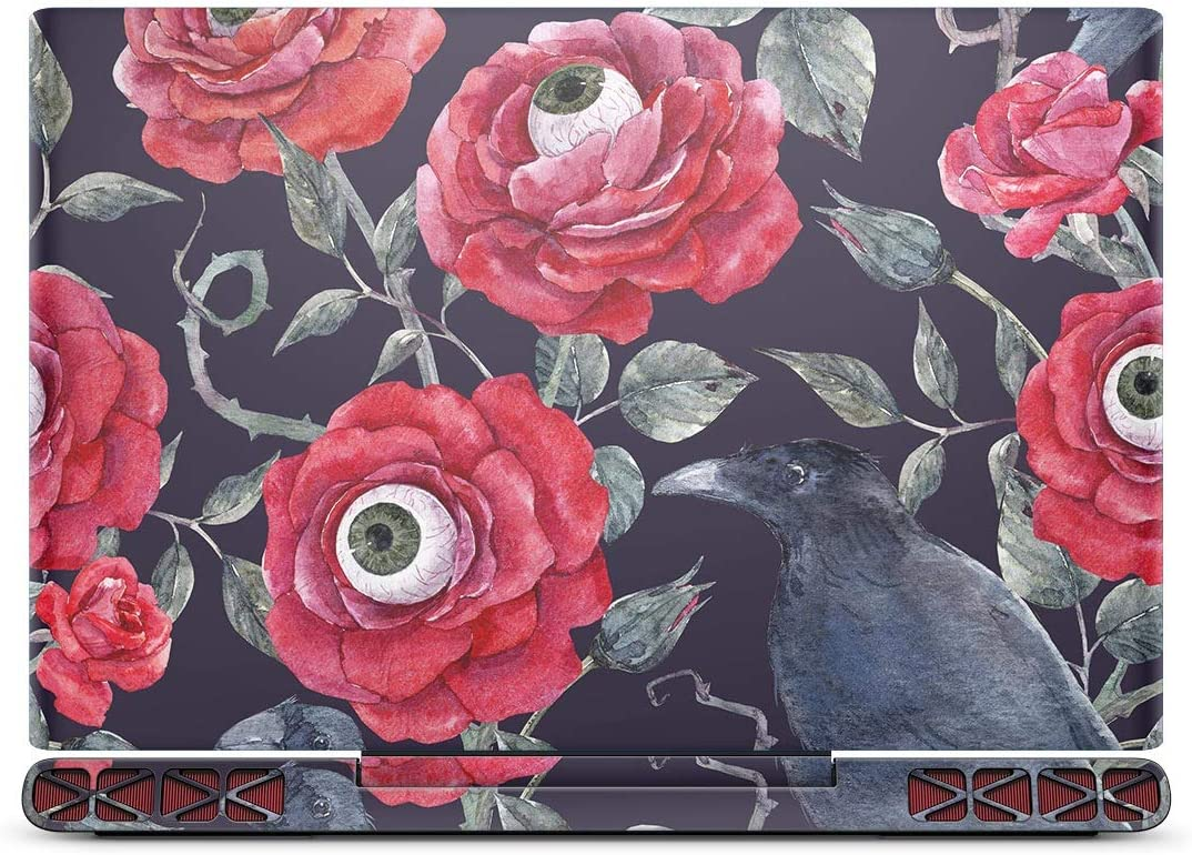 Design Skinz Abstract Roses with Eyes | Sticker | Wrap | Decal | Scratch Resistant Skin Cover Compatible with The Dell Inspiron 15 7000 Gaming Laptop (2017 Model)