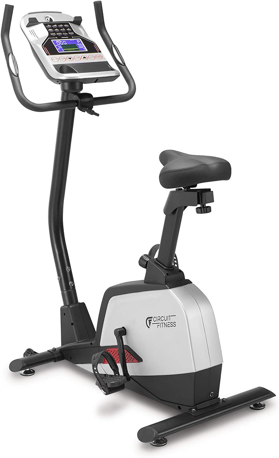 Circuit Fitness Magnetic Upright Exercise Bike with 15 Workout Presets, 300 lbs Capacity AMZ-594U