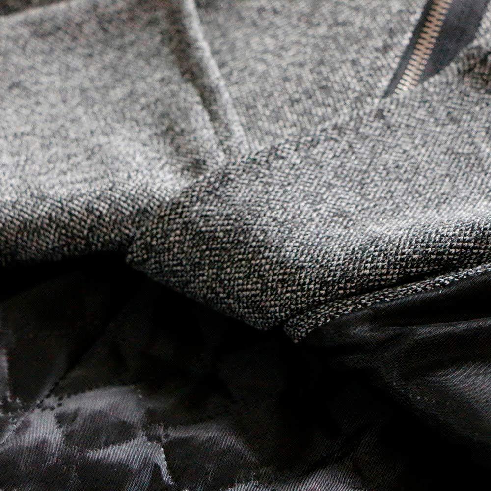 OSYARD Dégagement Manteau Femme Hiver Chic Coton Blouson Chaud Grande Taille Laine Manches Longues avec Capuche Coat Hoode Hoody Top Blouse Gris Gris