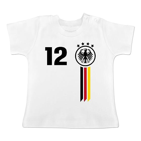 Fussball Europameisterschaft 2020 Baby 12 Mann Deutschland Wm Baby T Shirt Kurzarm