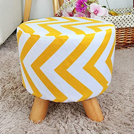 Surprising Padded Footstool Solid Wood Fabric Small Round Stools Sofa Gmtry Best Dining Table And Chair Ideas Images Gmtryco