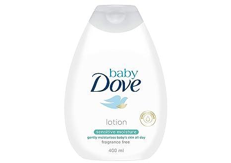 Loción Corporal Baby Dove Sensitive moisture de la cabeza a los pies 400ml - Pack de