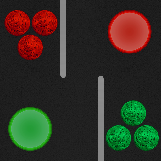 Colored balls and holes ()