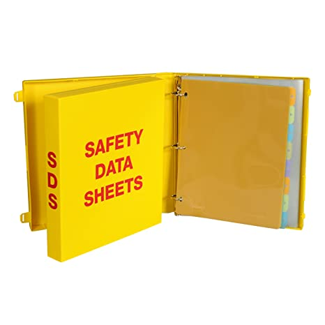 UniKeep SDS Binder with Metal Rings - Binder is Also a Fully Enclosed Case  to Store SDS Sheets - 1 5'' Spine  Includes 50 Page Protectors and 5