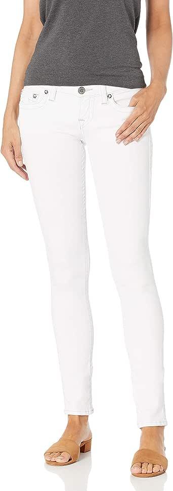True Religion Women's Stella Mid Rise Skinny Fit Jean