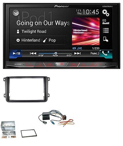 Pioneer X880 DVD MP3 CD USB Bluetooth 2DIN Radio de coche para Seat Alhambra Leon Toledo