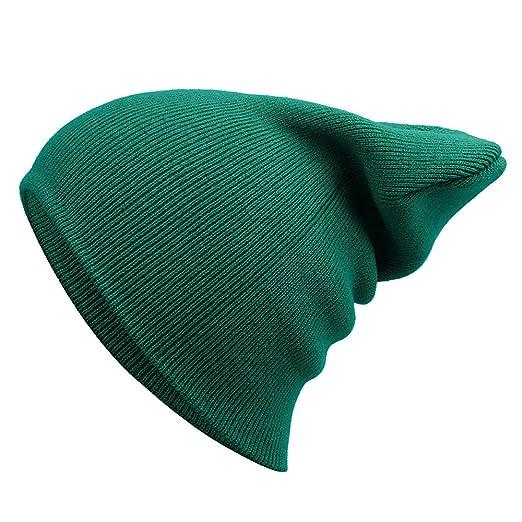 7d00ee0e807 Amazon.com  ZTY66✿ Men s Cool Cotton Beanie Slouch Skull Cap Long Baggy Hip-hop  Winter Summer Hat (A)  Clothing