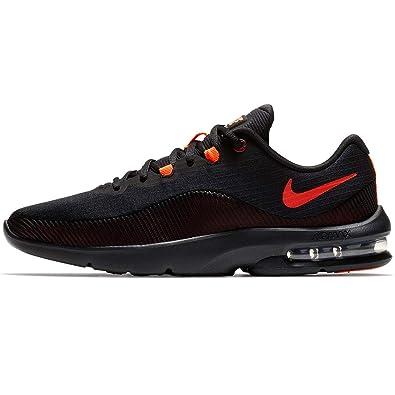 new concept 7102e 58b0c Nike Mens AIR MAX Advantage 2 Black Total Crimson Team RED Size 8