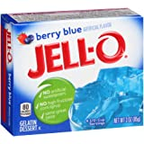 Jell-O Berry Blue Gelatin Mix 3 Ounce Box