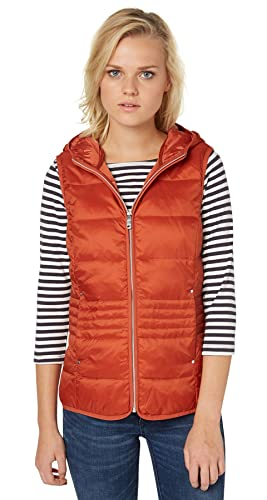 TOM TAILOR Leichte Steppweste-Chaleco acolchado Mujer    fox orange S