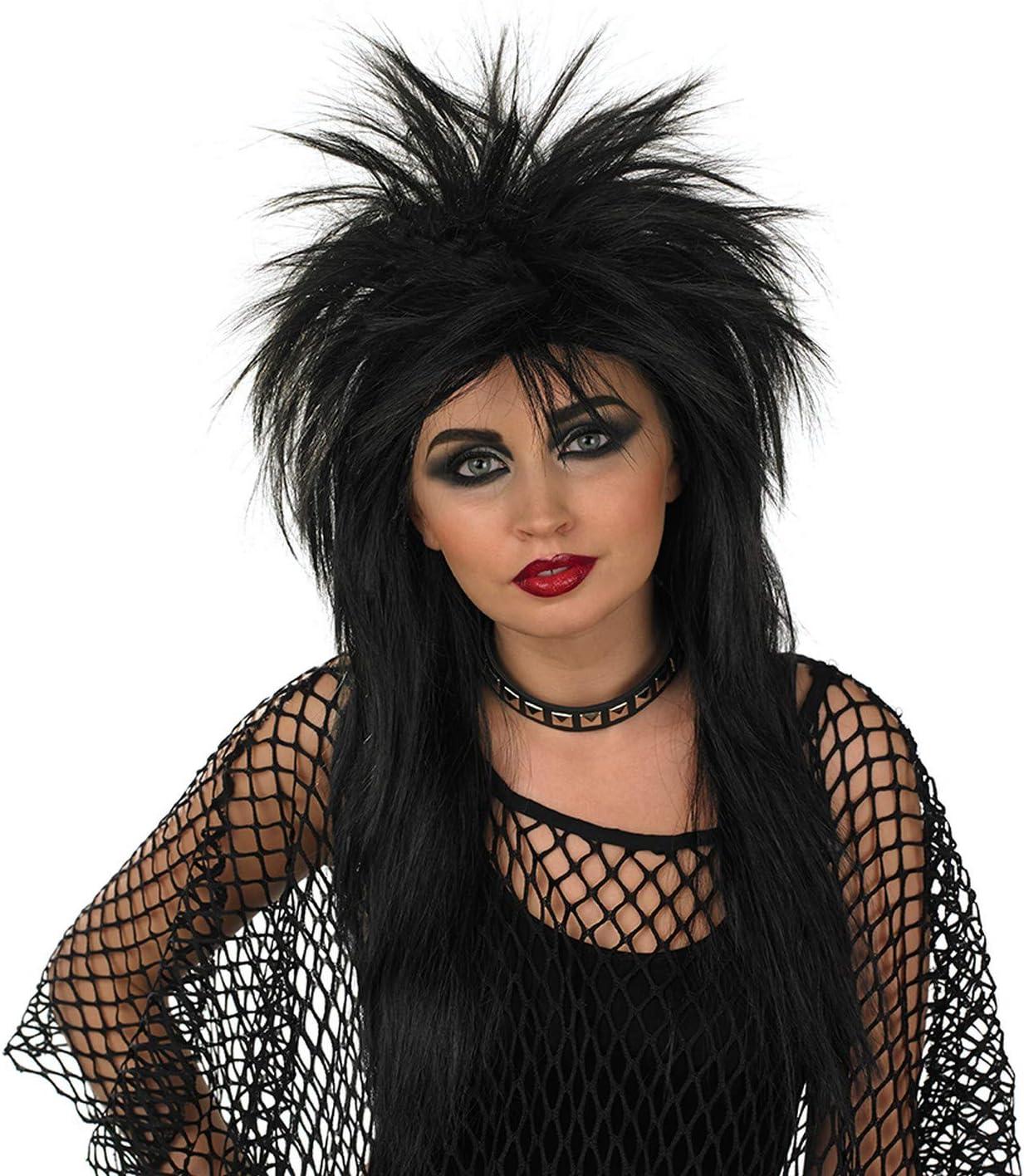 Fun Shack Negro Glam Rock Peluca para Hombres y Mujeres - Un ...