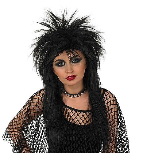 Black Spikey Glam Rock Wig (peluca)