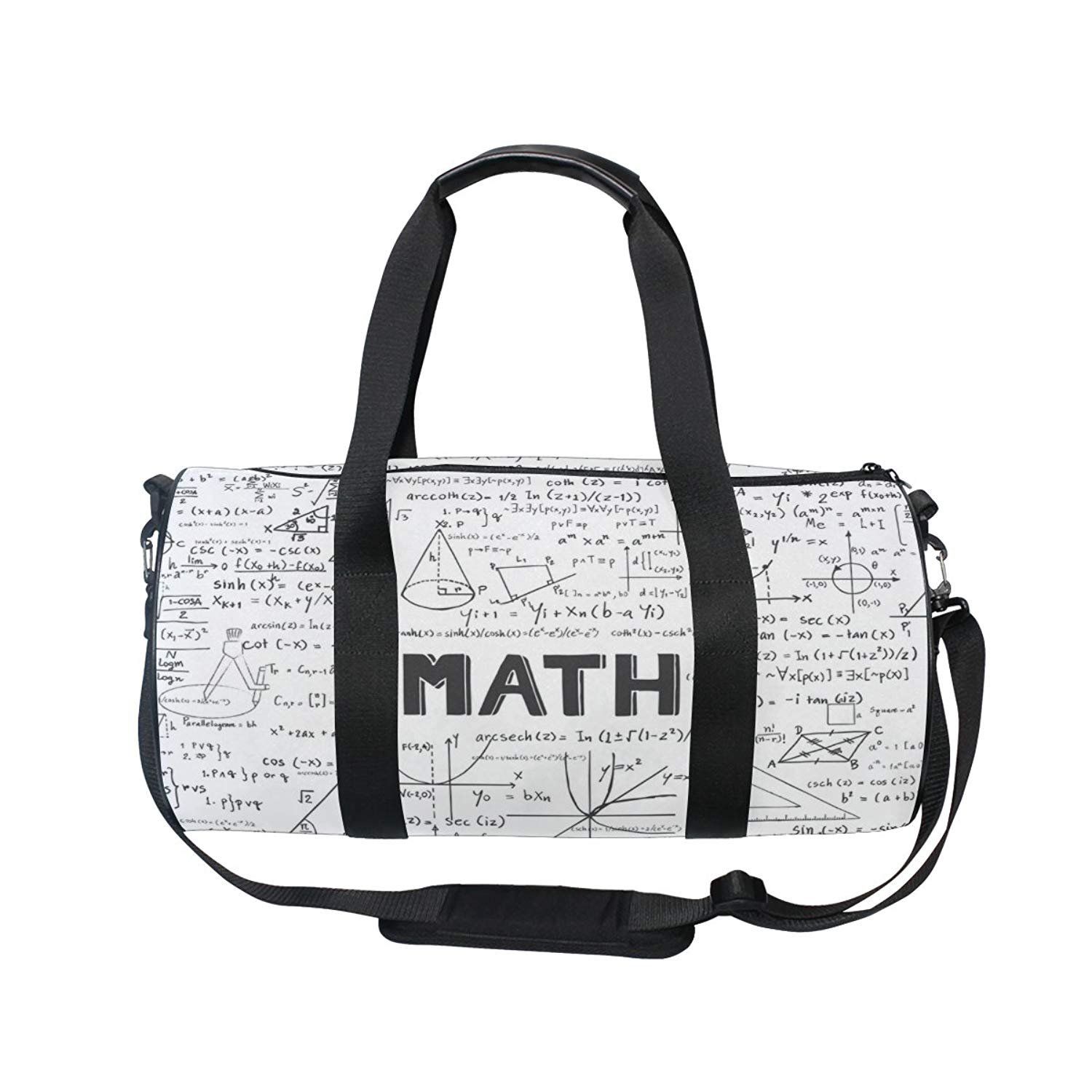 oulianスポーツバッグ数学ジオメトリDoodle Mens Duffle Luggage TravelバッグKid軽量ジムバッグ  picture1 B07F1GDNNP