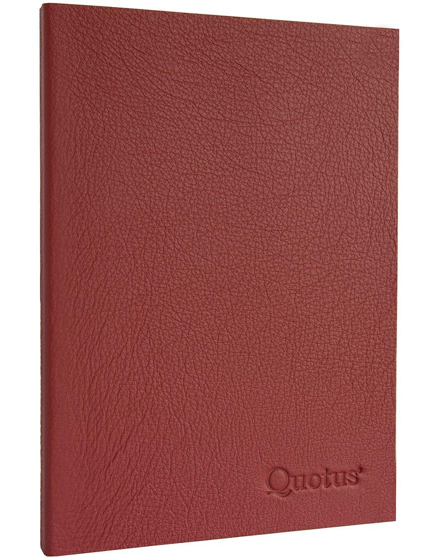 Quotus Quaderno Pentagrammato, in vera pelle a tema musica, 17 x 24 cm, Rosso (Bordeaux), 192 pg QUMU11