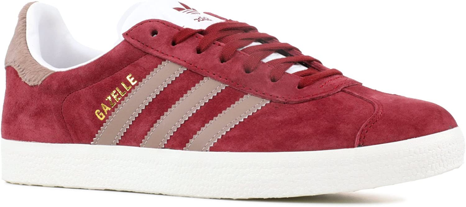 sistemático mezcla curva  Amazon.com | adidas Women's Originals Gazelle Shoes (6.5 B(M) US) Burgundy/ White | Road Running