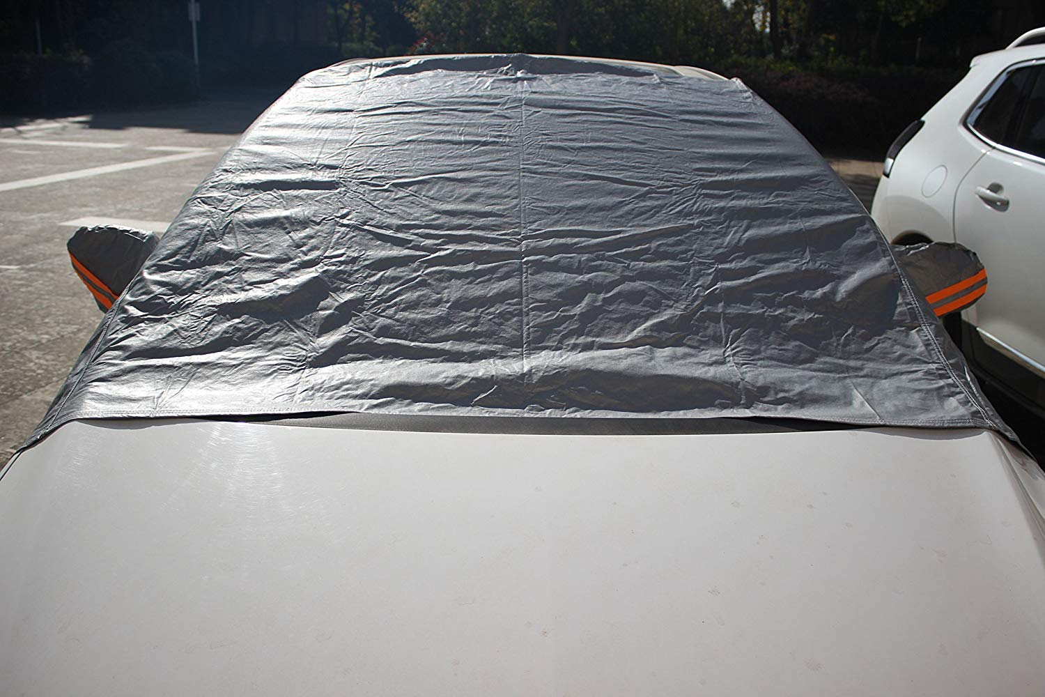 imUfer Universal Thickening Front Windscreen Cover with Ears Protect from Sun Snow Dust Rain Frost in All Weather