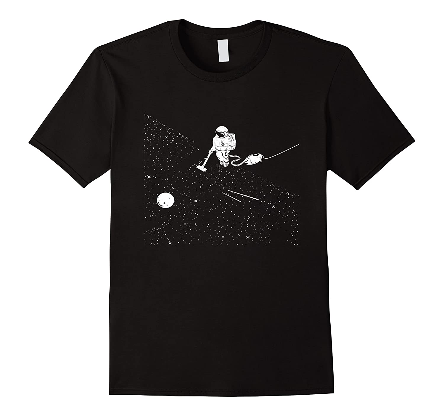 Astronaut vacuuming stars t shirt-RT