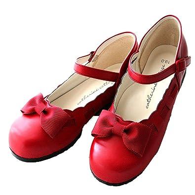 f1cb779fad130 (キャサリンコテージ)Catherine Cottage 子供靴 リボンストラップフォーマルシューズ C24 24cm 赤 C24