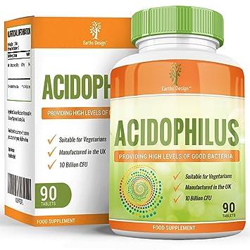 Earths Design Lactobacillus Acidophilus - 10 Mil Millones De Cfu: Amazon.es: Salud y cuidado personal